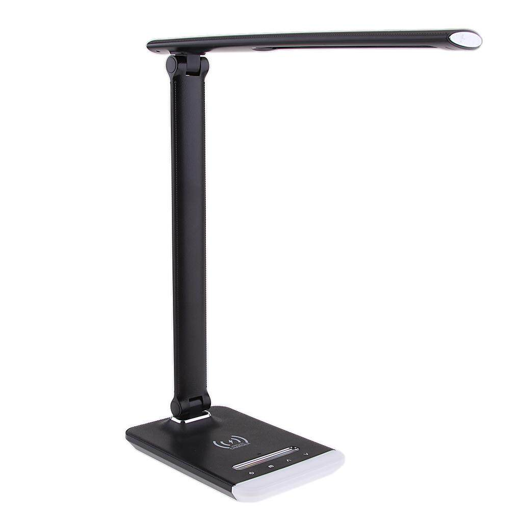 Perfk LED Dimmable Desk Table Light Lamp with RGB Color Changing Mood Light