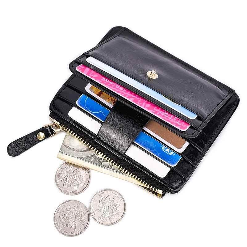 WULI 1PC Slim ID Credit Card Holder PU Leather Wallet Europe and the United  States Style cd2a5806b2