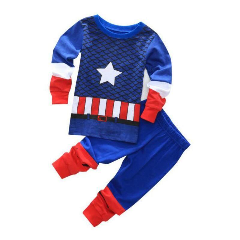 MuXing Clothing Sets Boys Sleepwear Clothes Kids Batman Pajamas Set Baby Girls  Cotton Cartoon Pijamas Spring d59099c1a