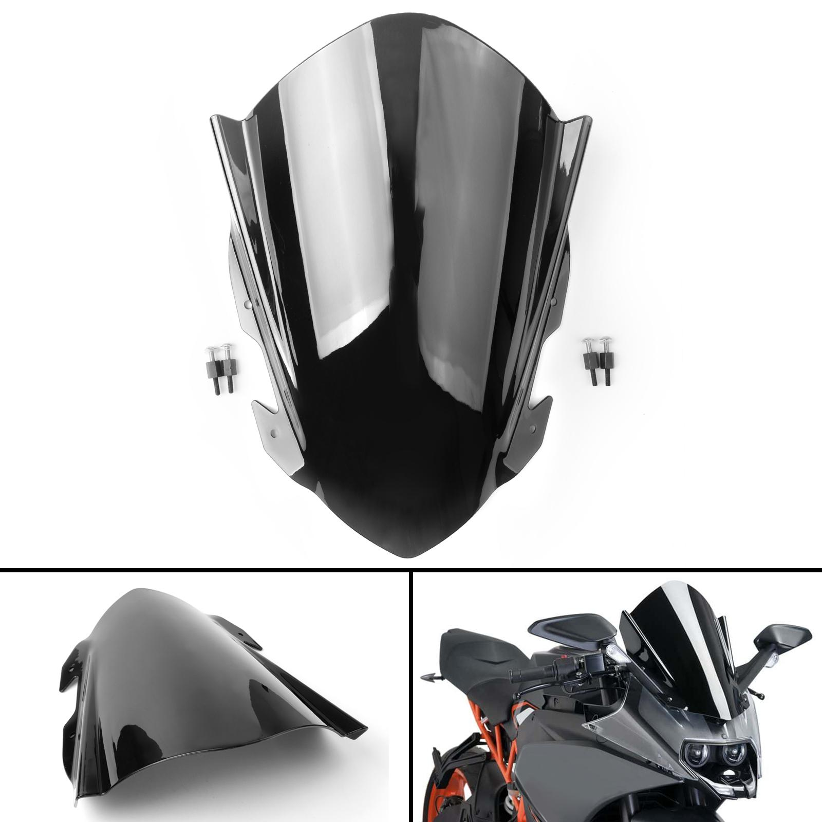 Areyourshop Windshield Windscreen Double Bubble For YZF R1 1998-1999 CLE-BLK