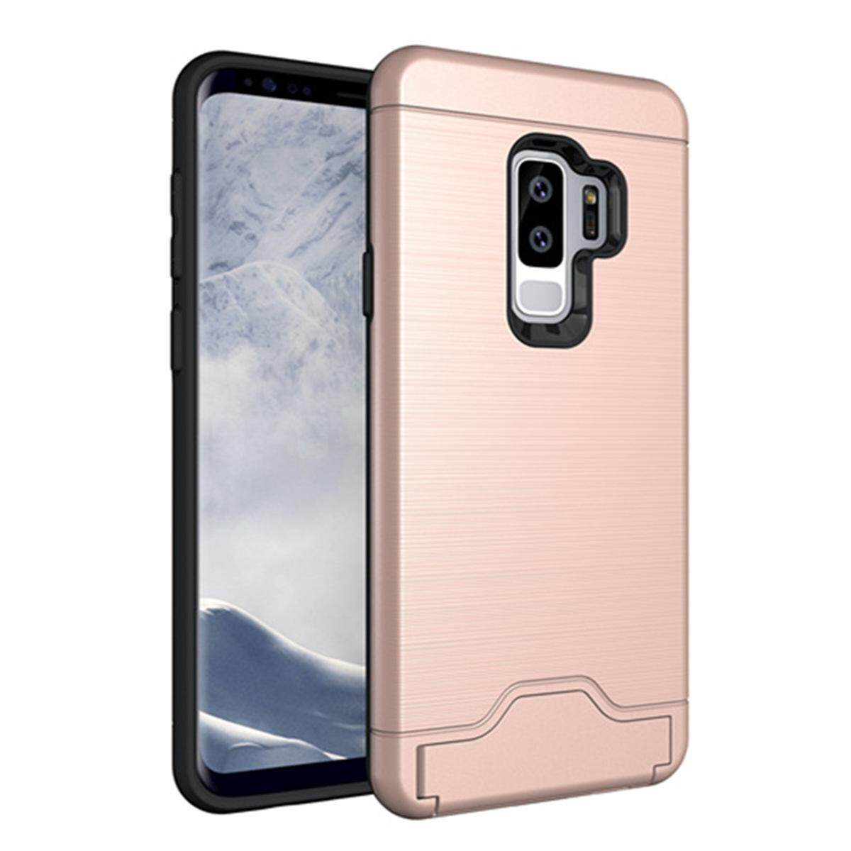 Hình ảnh for Samsung Galaxy S9 Plus & S9+ Case [Hidden Card Slot] Hard PC + TPU Hybrid Back Armor Case Cover, with Cryptic Card Storage Slot, Skidproof, Minimalist - intl