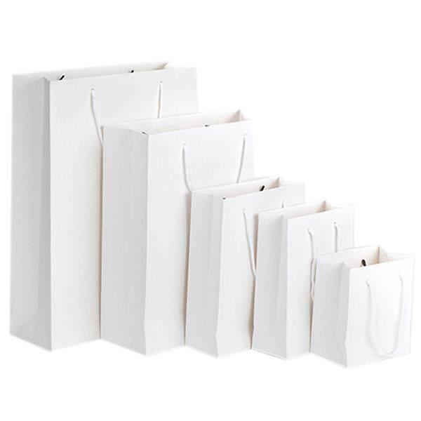 กระดาษติดของขวัญถุงพร้อมที่จับสำหรับงานปาร์ตี้วันเกิดสีขาว 18*14*25 เซนติเมตร - Intl By Fastour.