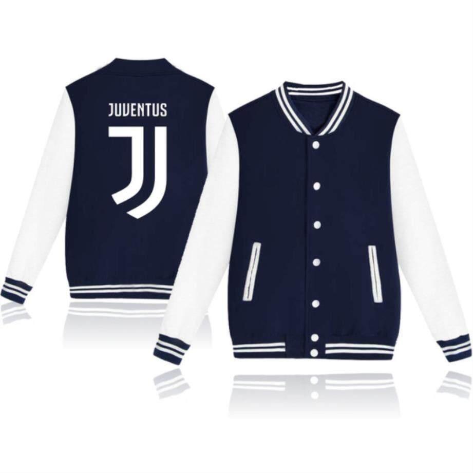 ZZOOI Juventus 2018 Hit Hop Cotton Baseball Jacket Bomber Jacket Men Women Juventus Tracksuit Club Italy