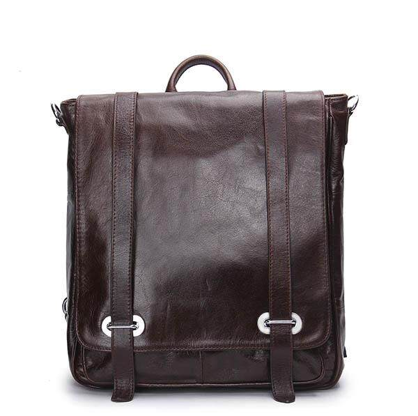 4876c30873bc CONTACT S MB043 Genuine Leather Backpack Men Multifunctional Backpack  Korean Fashion Male School Backpack Large Travel Bag