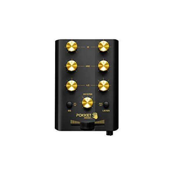 Pokket Mixer Mobile Mini DJ Mixer - Speakers - Retail Packaging - Black Goldstar / From USA