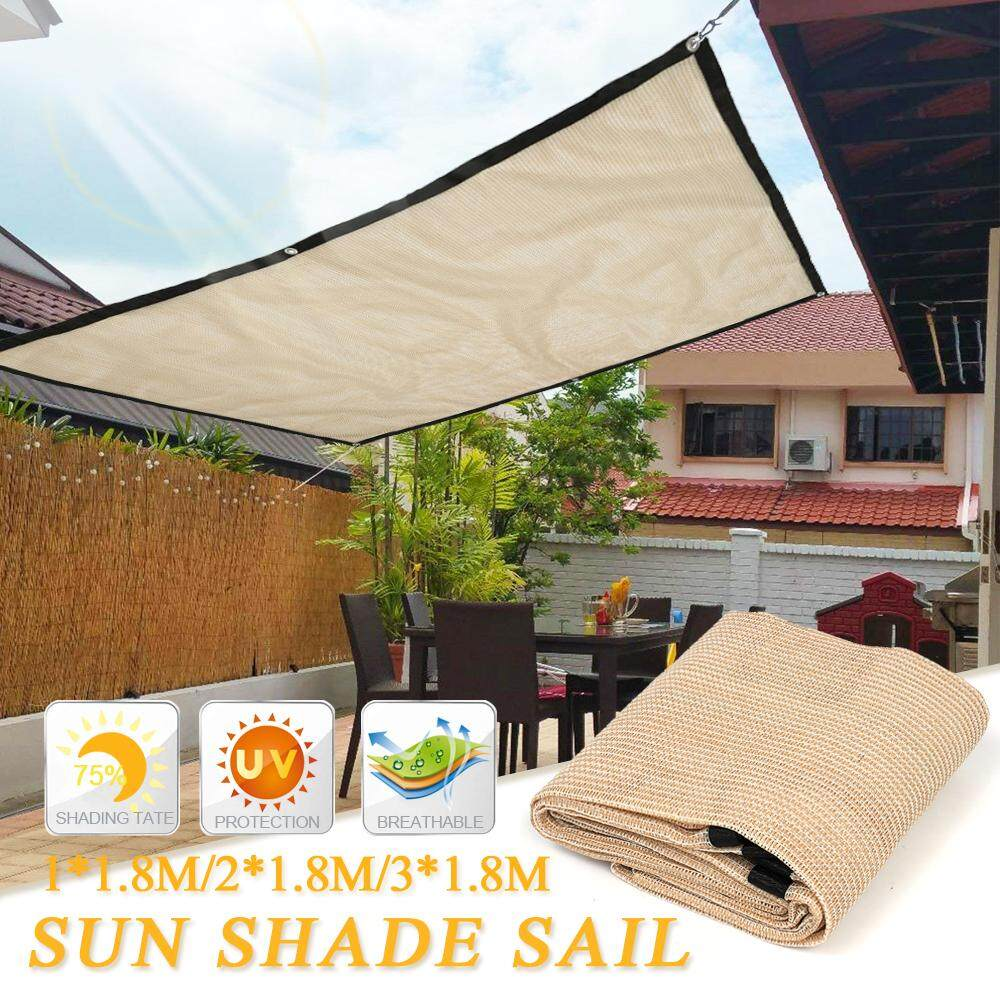 3x1.8m Sun Shade Sail Balcony Bonsai Awning Canopy Sunproof Netting Anti UV Mesh Block Garden Party Courtyard Parking Lot Patio
