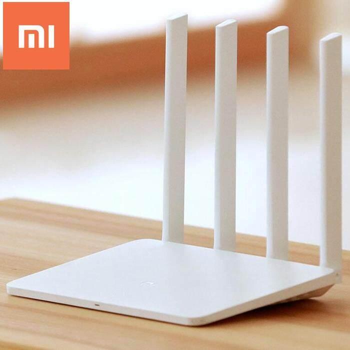 Xiaomi Mi Wifi Router 3 (Versi Bahasa Inggris) /1167 Mbps/2.4 GHz 5 GHz Dua Kelompok/IEEE 802.11ac/128 MB SLC NAND Flash ROM/128 MB DDR2 Ram dengan 4 Antena