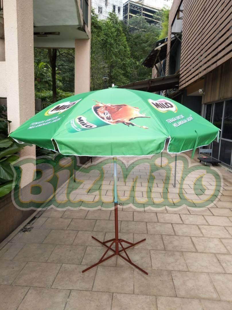Payung Cafe Pantai Jualan Tenda Parasol 180cm Daftar Harga Pelangi Lapak An Dagang Kaki Lima Pkl Taman Stand Diameter 230cm 2lapis Bandung Milo Printed