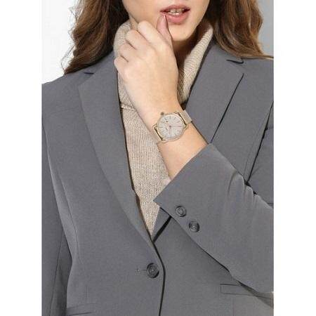 Women Gold Commuter GoldMalaysia The Es4333 Stainless Dial Steel Fossil Watchrose Rose 0wmNv8nO