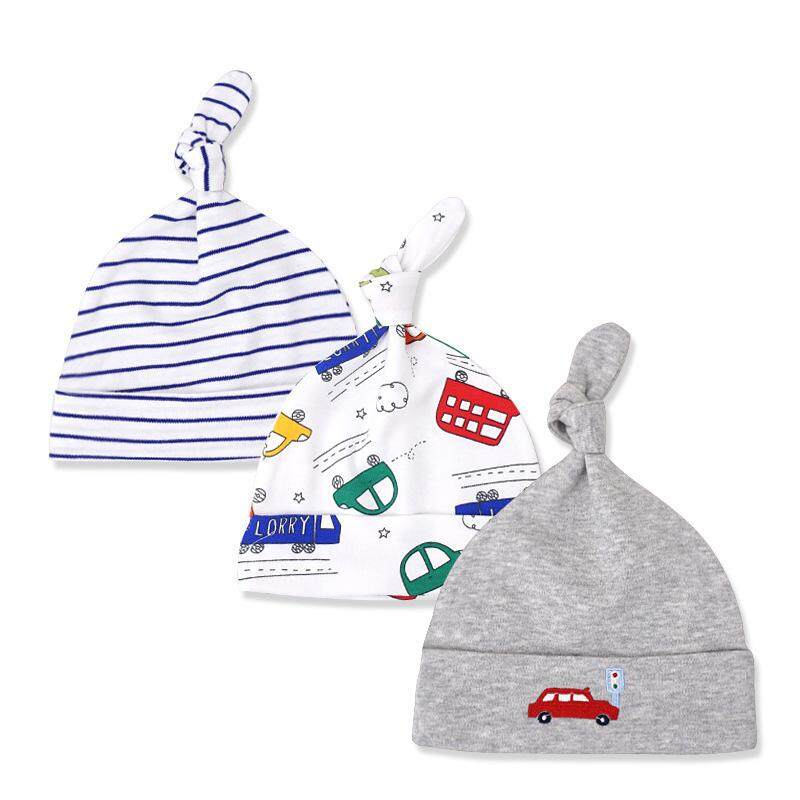 df8ec0f1e77 3Pcs Lot Cotton Baby Hat Cap Cartoon Printed Baby Girl Boy Beanies Bonnet  Autumn Winter
