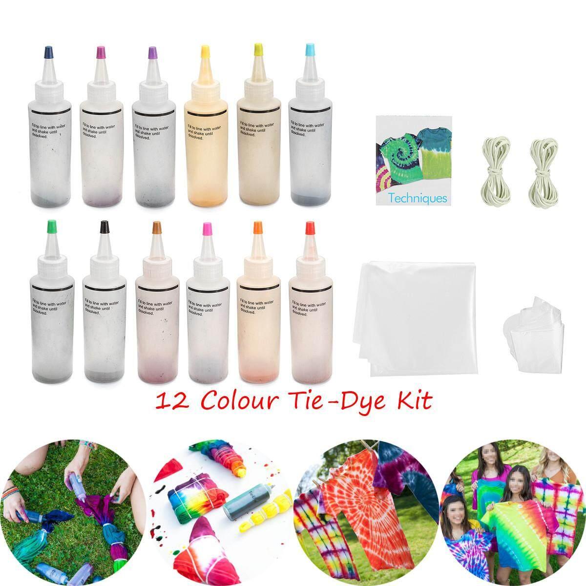 Tulip Satu Langkah 12 Warna Tie-Dye Kit Super Besar By Qiaosha.