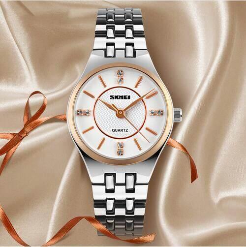 (100% Genuine) Skmei 1133 Top Luxury Brand Women Quartz Watches Fashion Casual Stainless