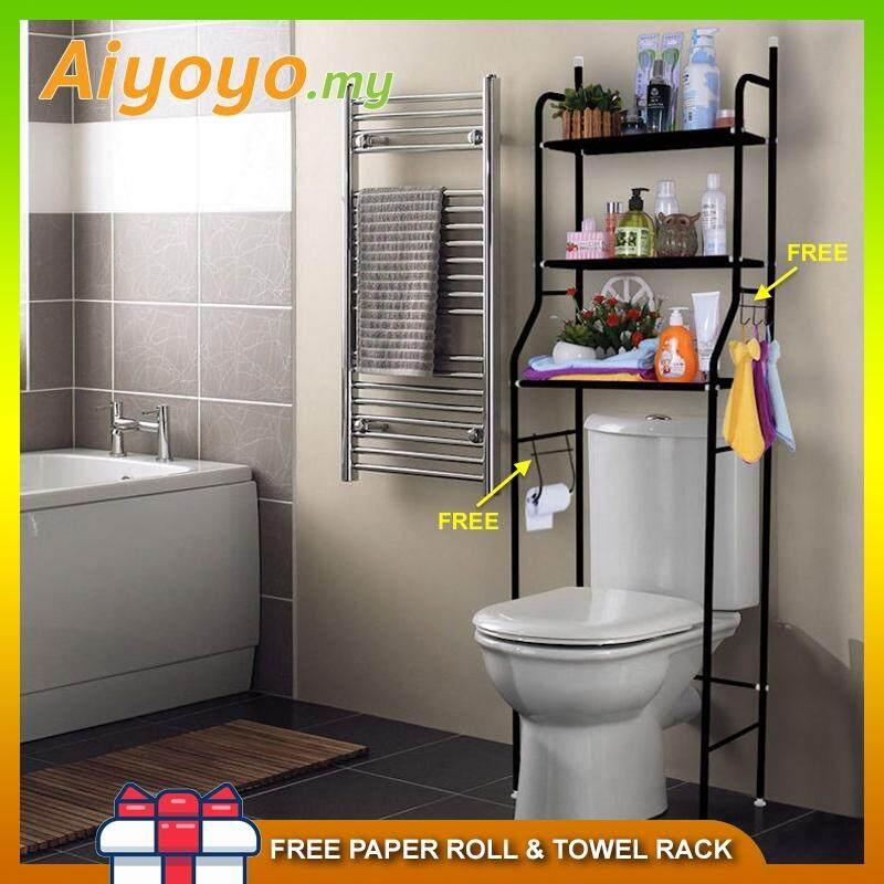 3 Tiers Bathroom Washroom Toilet Bowl Rack Shelves Shelf Save Space ...