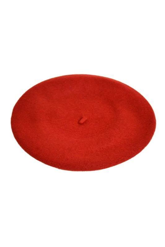 Unisex Men Women Winter Plicate Baggy Beanie Knit Crochet Ski Hat Slouch Cap - Red SUN