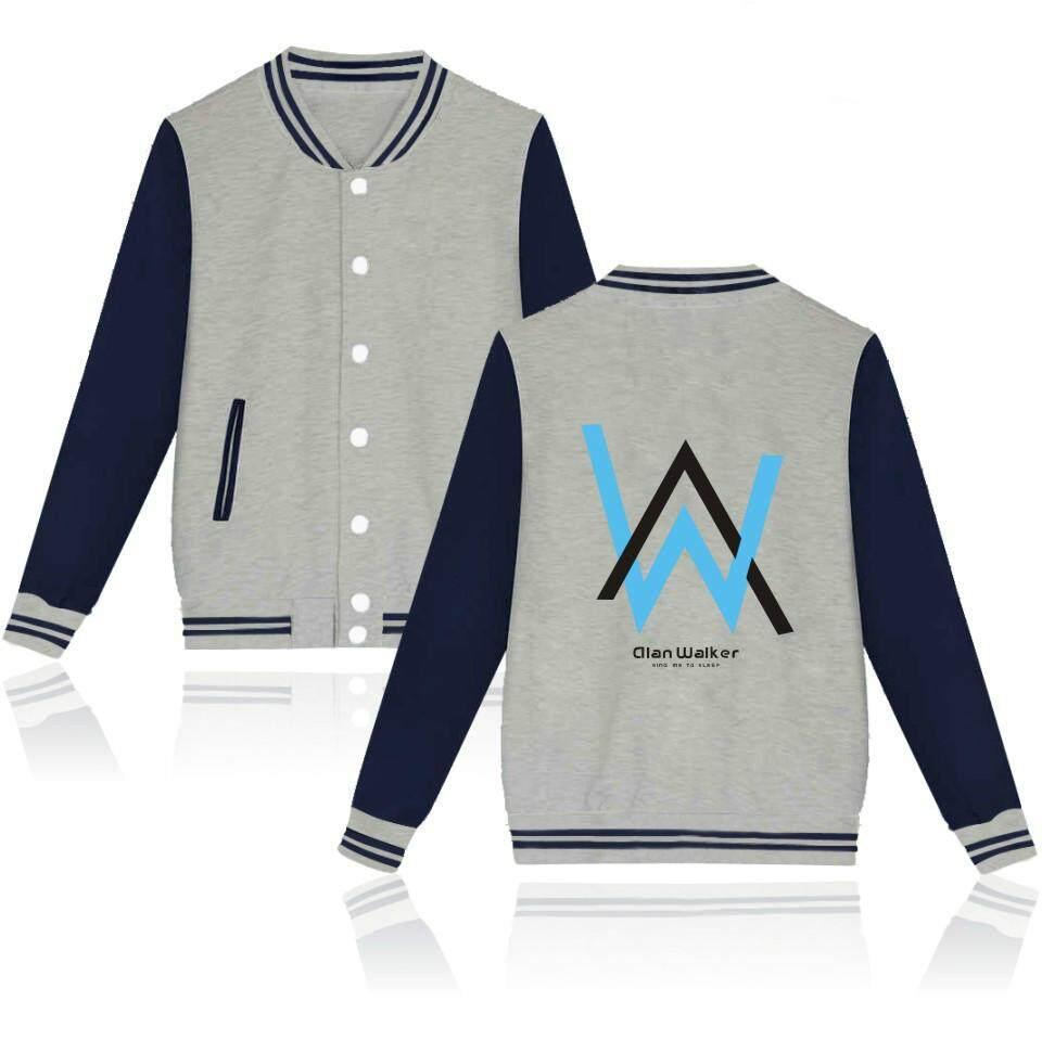 Buy Sell Cheapest 2018 Dj Alan Best Quality Product Deals Jaket Sweater Walker Zipper Baseball Uniform Women Men Jacket Electric Faded Lovers Good