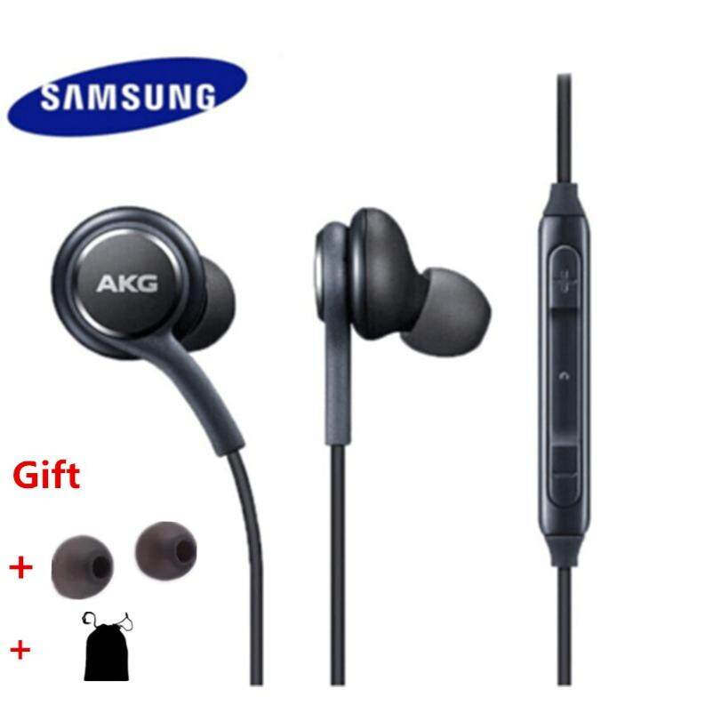 Earphone For Samsung S8 S9 Plus S6 S7 Note Wire Headset Akg In-Ear Headphone With Microphone By Soznoc Technology.