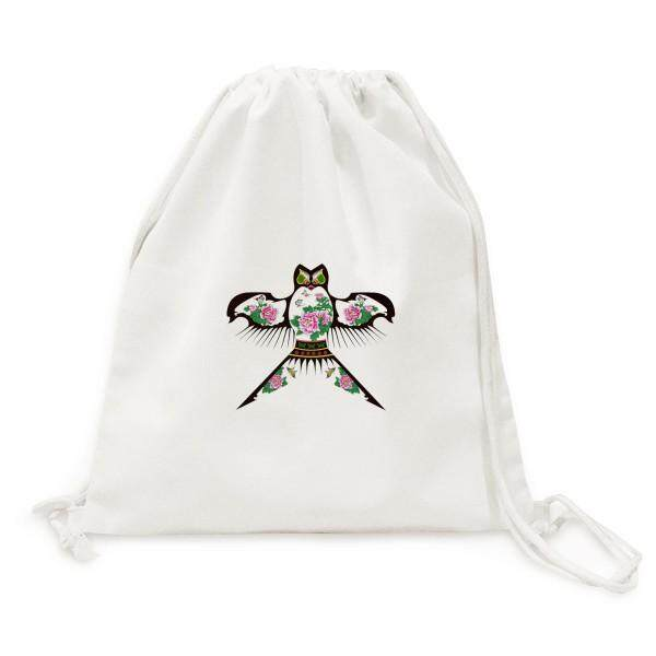 Chinese Culture Traditional Kite Pattern Canvas Drawstring Backpack Travel Shopping Bags - intl