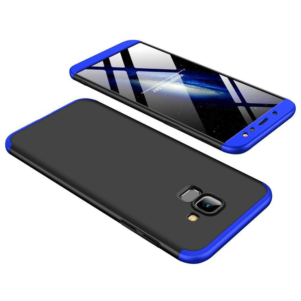 Hicase For Samsung Galaxy A6 2018 Detachable 3 In 1 Combo Frosted Armor Hard PC Back