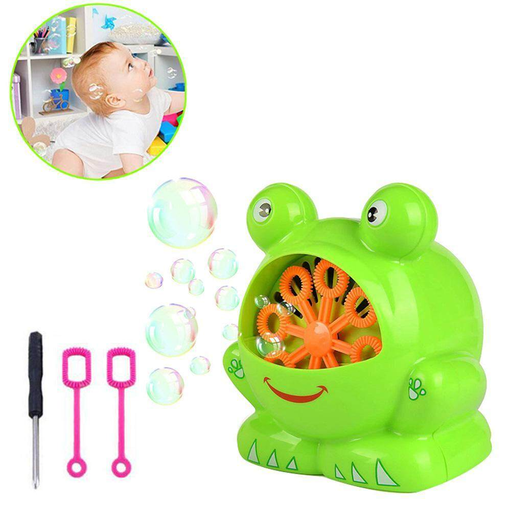 Niceeshop Automatic Frog Bubble Blower Machine Make Over 500 Bubbles Per Minute For Kids Birthday Party, Wedding, Indoor And Outdoor Games By Nicee Shop.