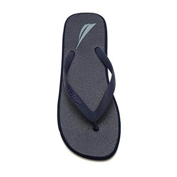 Nautica Pria Del Ray Flip Flop Karet Thong Sandal Pantai TrueNavy1-10-Intl
