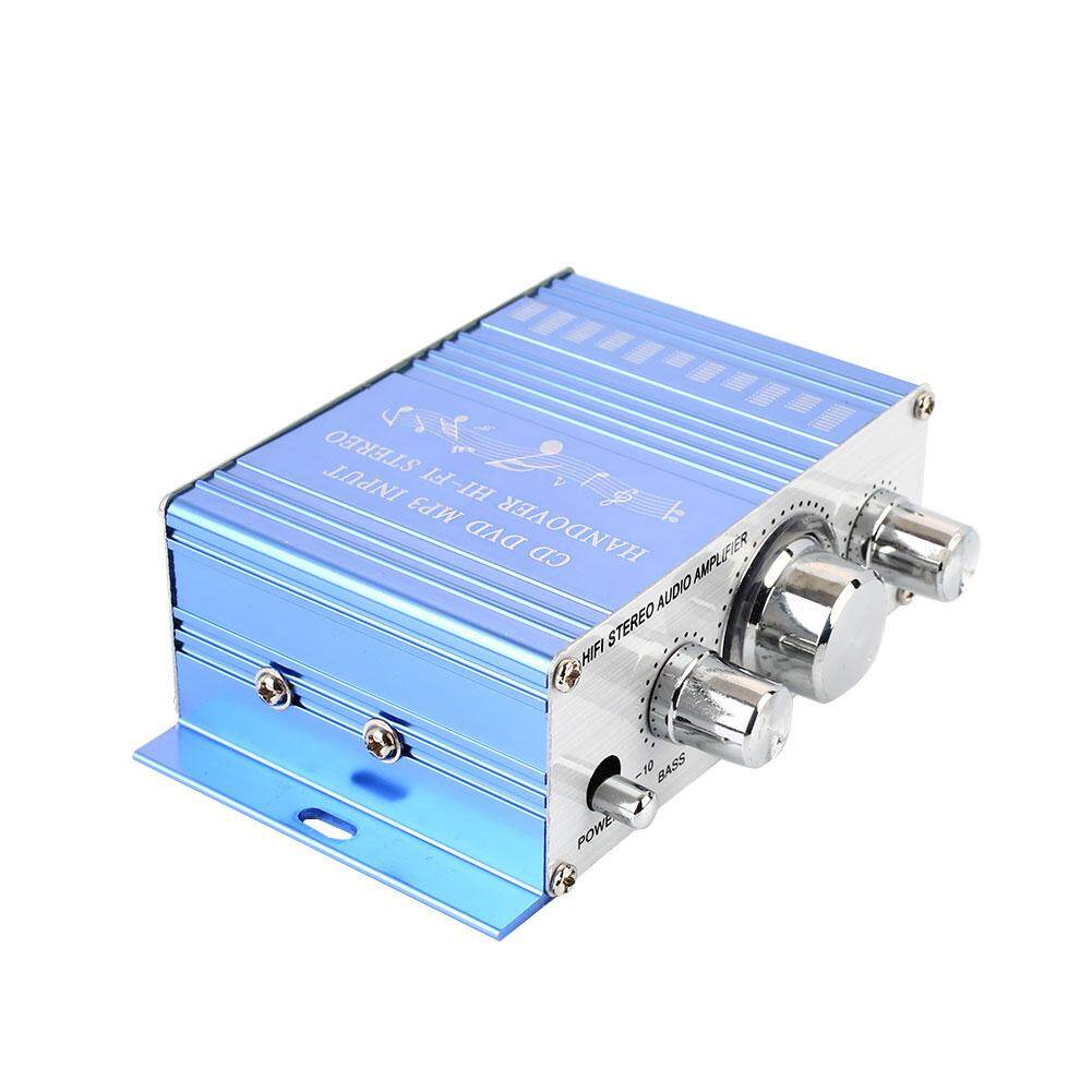 Amplifier Mobil Penguat Daya Premium DC12V Merah/Biru Mobil Mobil Elektronik