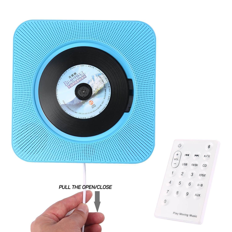 Aolvo Min Pemutar CD Dinding Mount Portabel Speaker Musik Bermain Rumah Repeater Pendidikan Awal Belajar Bahasa Inggris Kendali Jarak Jauh Bluetooth Pemutar CD Radio Built-In Pengeras Suara HIFI MP3 AUX Input dan Output-Intl