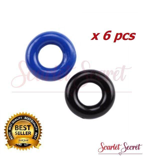 (6pcs) Men  Soft Silicone Erection Ejaculation Delay Ring Sex Toy