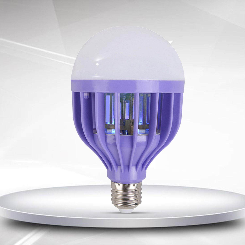 2-in-1 Dual Use Electric LED Night Light Bug Zapper Light Bulb Mosquito Repellent Killer Light 6500K Screw Lamb Base - intl Singapore