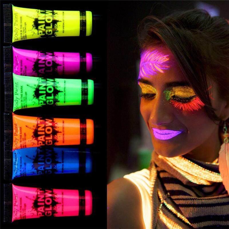 Glow Paint in the Dark Body Paint Body&Face for Carnival ,Party ,Neon Fluorescent Kit