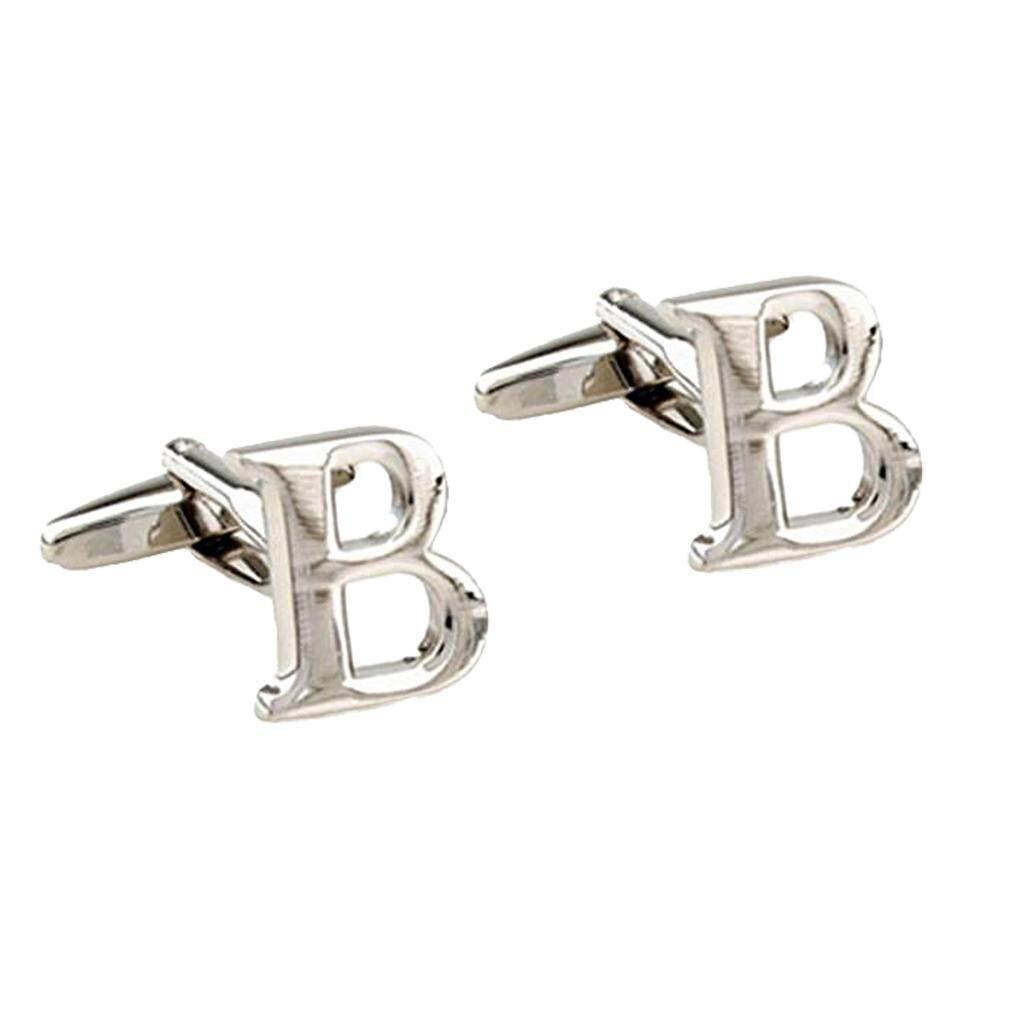 Bolehdeals Mens Brass Initial Cufflinks Letter Business Shirt Cuff Links Wedding Gift By Bolehdeals.
