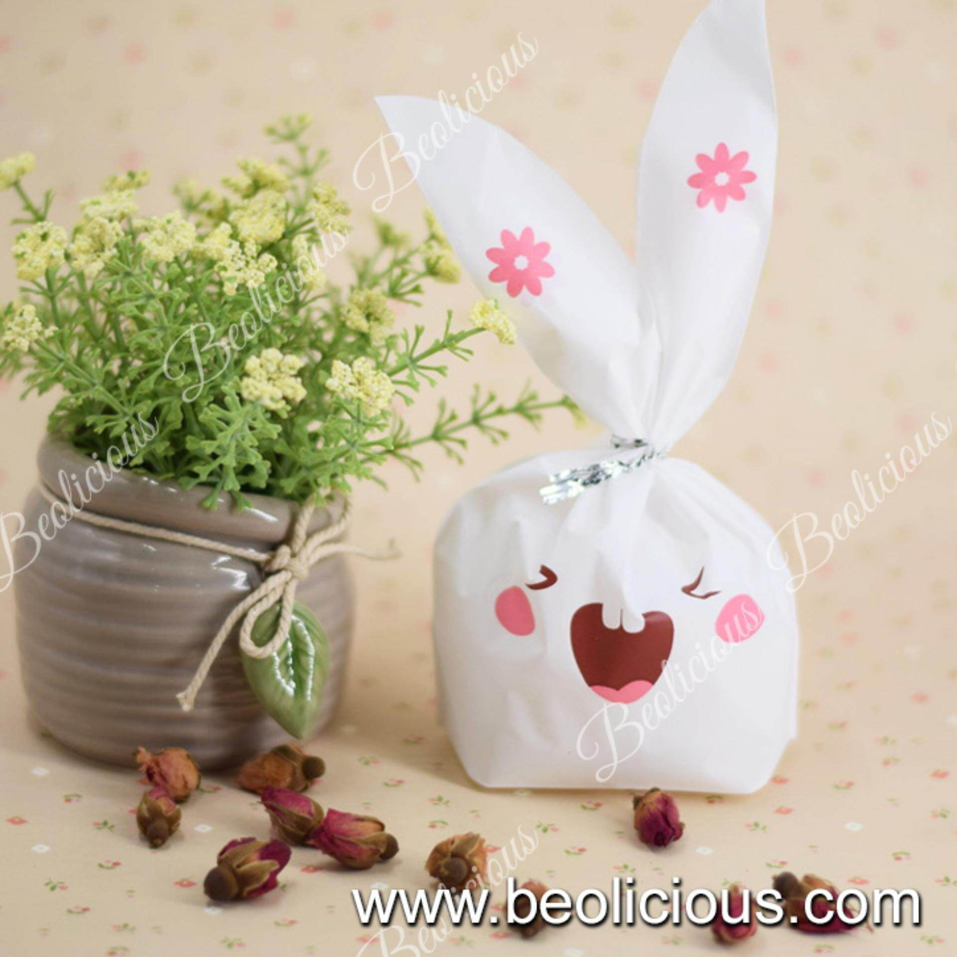 Home gift wrapping bags buy home gift wrapping bags at best 50pcs large buck teeth rabbit goodies bag plastic bag gift wrapper or negle Gallery