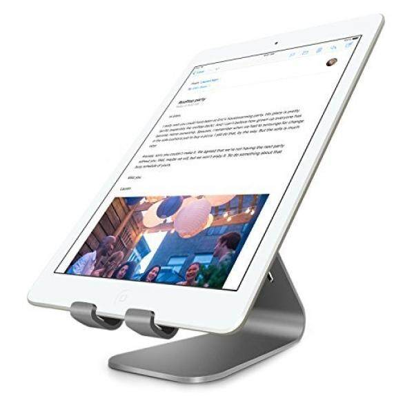 Cell Phones Stands Bestand Tablet Charger Stand, INI Aluminium Alloy Tablet Desktop Stand for iPad Air 1 /2, iPad Mini 4 / 3 / 2 / 1, and Samsung Tablets, E-readers,Google Nexus 7(Grey) - intl