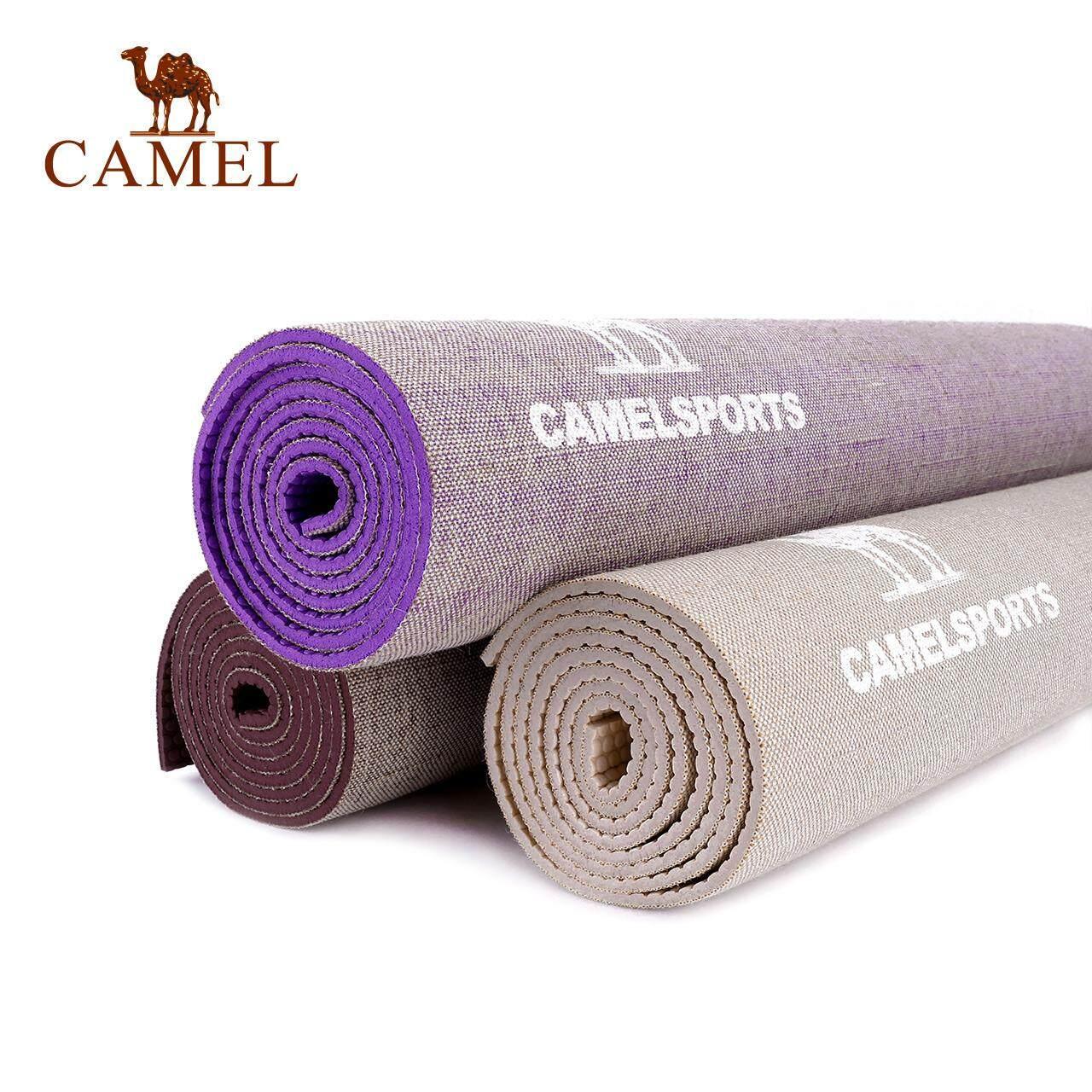 ... CAMEL linen yoga mat slip anti-slip rebound fitness Pilates mat bodybuilding mat - 3