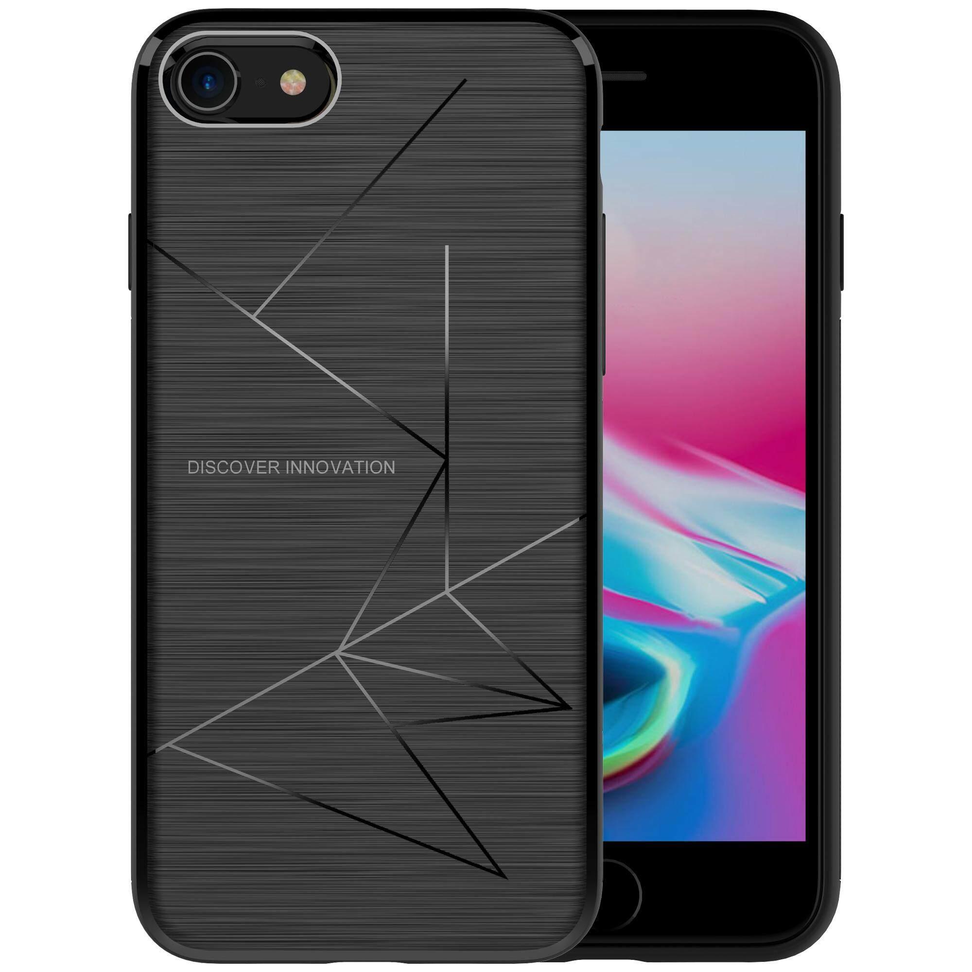 NILLKIN Magic Case untuk iPhone 8 Lembut TPU Pengisi Daya Nirkabel QI Receiver TPU Casing Belakang