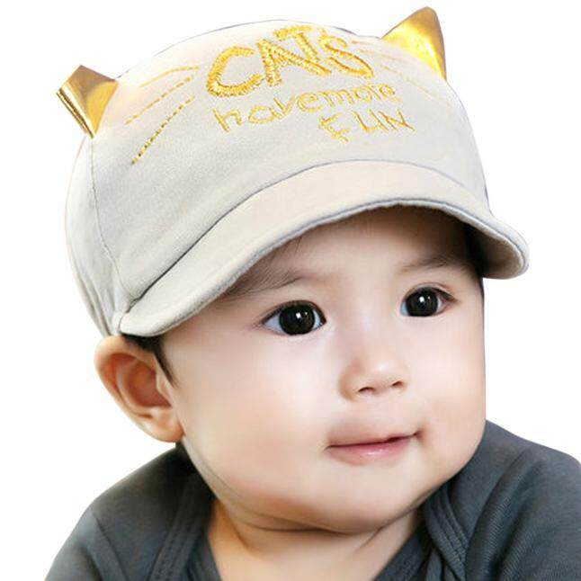 51a7d55a98e Toddler Infant Sun Cap Summer Outdoor Baby Girls Boys Sun Baseball Hat Grey