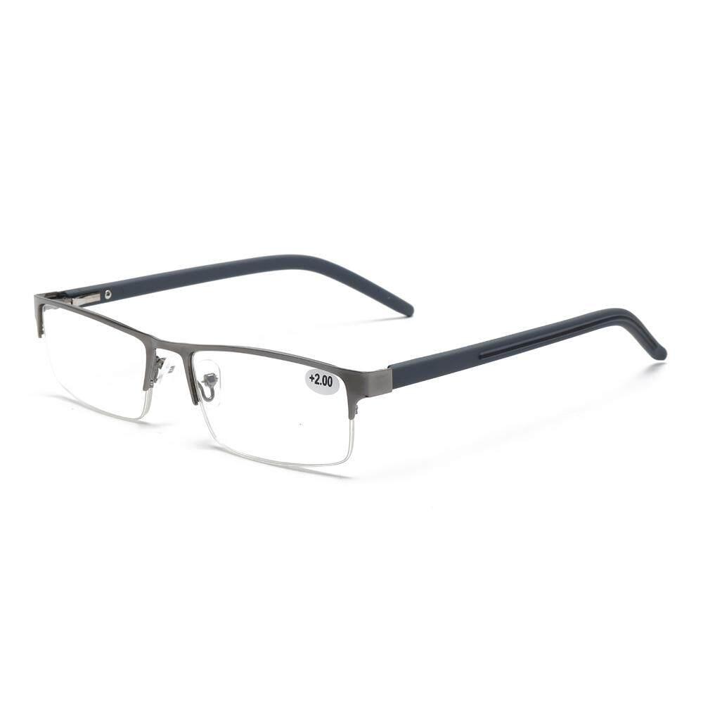 100 Degree Men Unisex Lightweight Clear Lens Reading Glasses Square Frame  Matal Casual Eyeglasses d84f4fa9f4