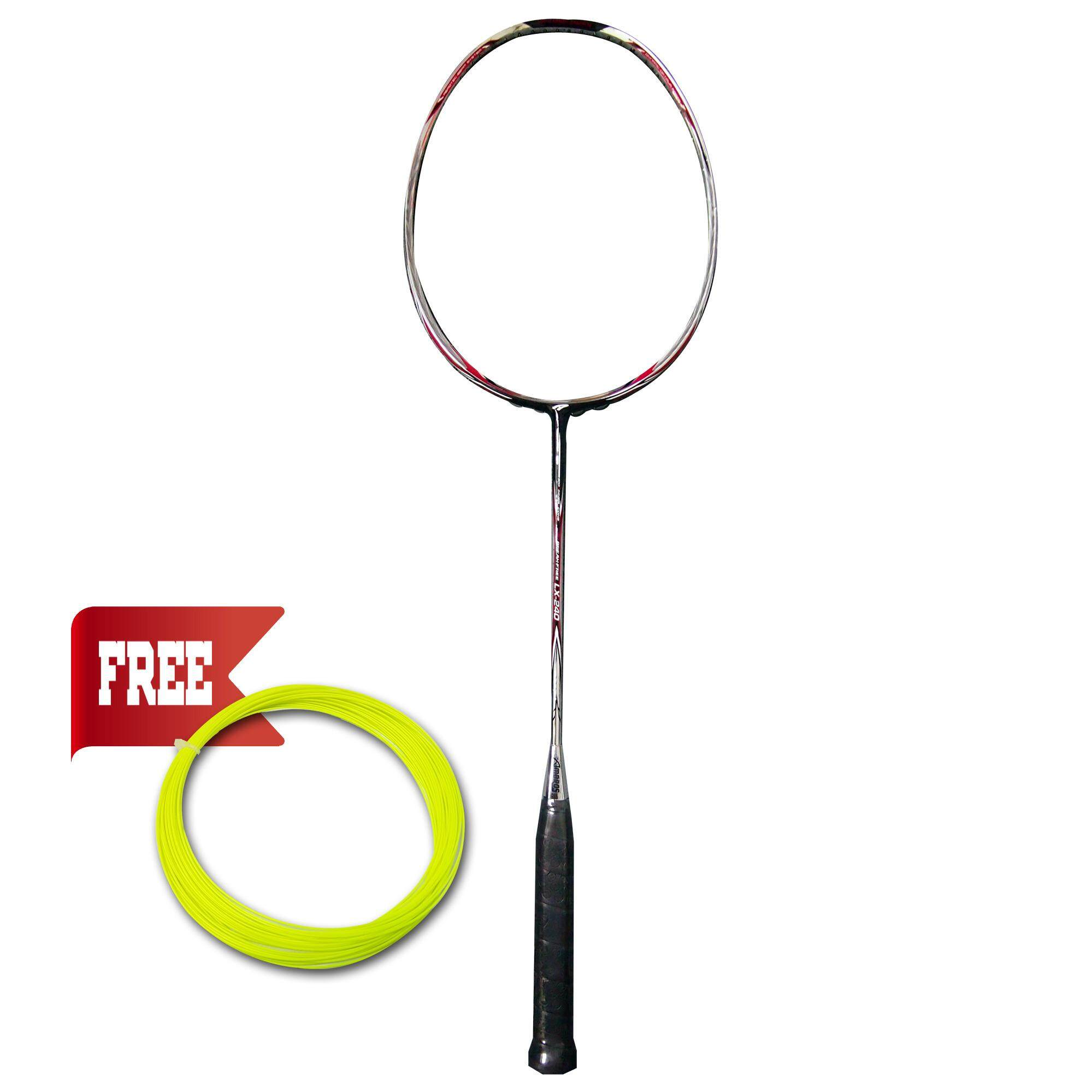 AMBROS LX-240 Racquet - CHROME / BLACK