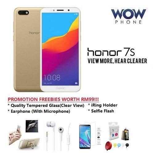 Honor 7s, (2GB+16GB ROM) Original Honor Malaysia Set, Promotion Freebies Worth RM99!!!