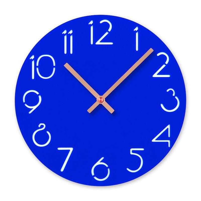 Acrylic Cartoon Number Wall Clock Home Decor Silence Clock, Blue Free Shipping