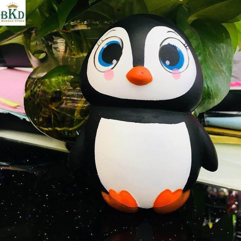 Hình ảnh Bkodak Store Realistic Look PU Foam Flexible Cute Penguin Decompression Toys
