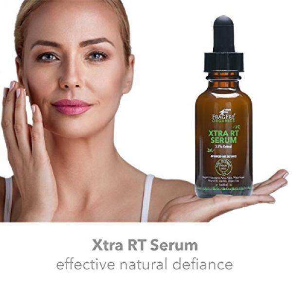 FRAGFRE Organic Retinol Serum 2.5%: with Vegan Hyaluronic Acid boosting Collagen and Brightening Retinol - Anti Wrinkle Anti Aging Serum - 1 oz, Cruelty Free - Advanced Age Defiance Solution / From USA