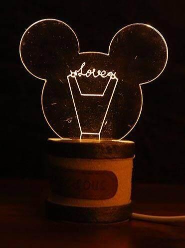 Mickey USB 3D Night Lamp