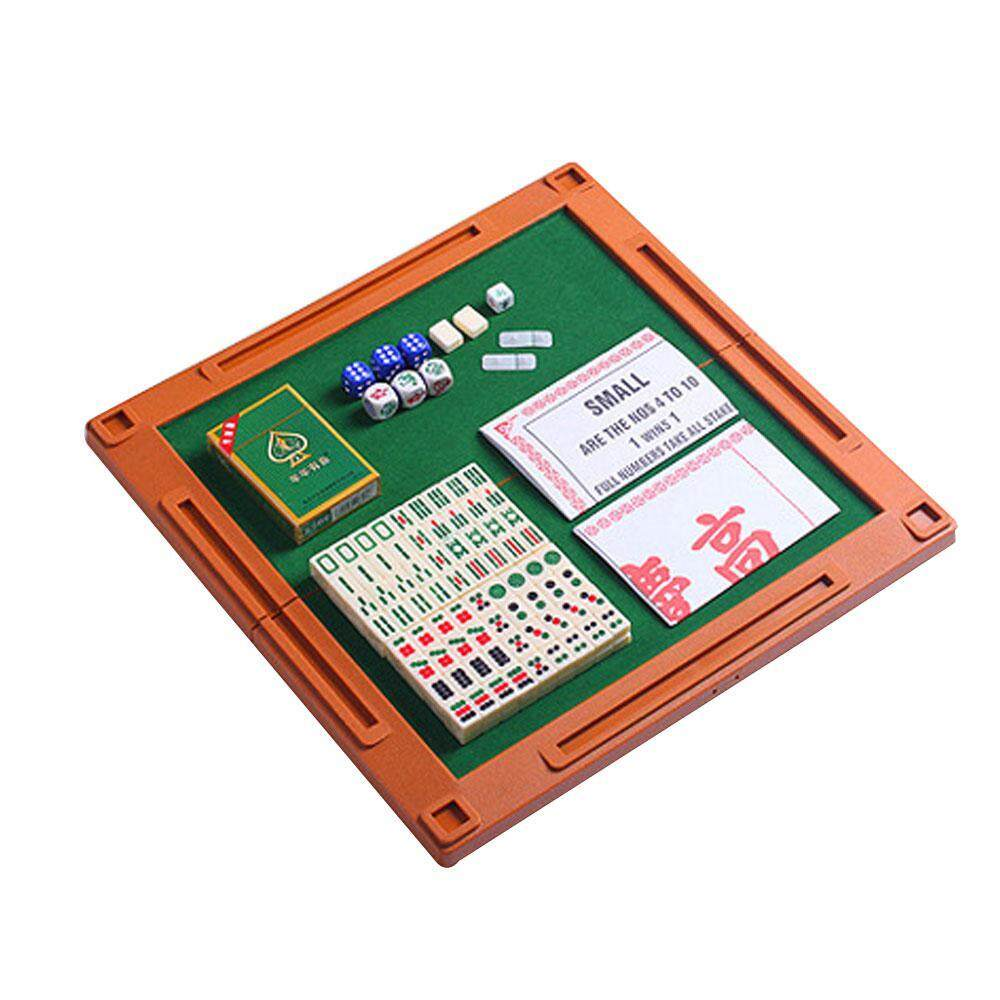 Umiwe Travel Game Set Accessories With Mini Mah Jong Tiles, Portable Mah-Jongg Table, Poker Playing Cards, Mahjongg Ivory Dices By Umiwe.