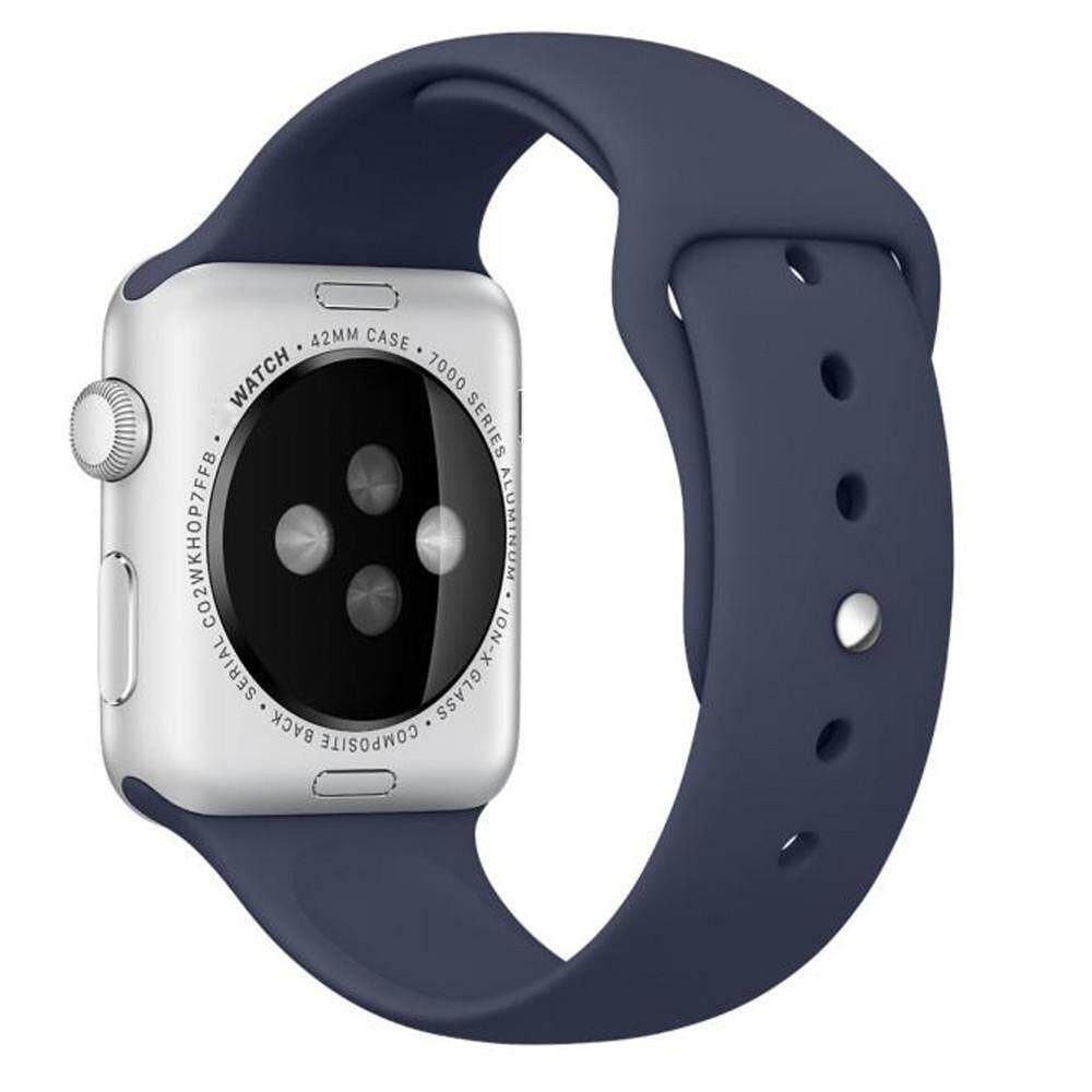 Detail Gambar Malloryshop Bluetooth Sentuh Screennew Fashion Silikon Olahraga Tali Jam Gelang Band untuk Apple Watch 38 Mm Terbaru