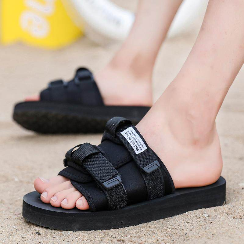 New Arrivals Summer Men Sandals Black Casual Slippers Thick Sole Outdoor  Beach Water Shoes Lelaki Sandal ab26cd772d