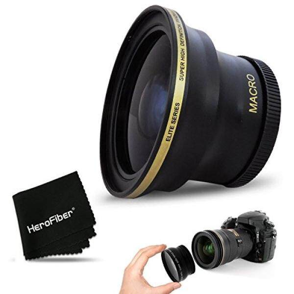 Pro 58 Mm Fisheye Lensa untuk Canon EOS 80D, 70D, 60D, 7D Mark II, 6D, 5D Mark III, EOS Rebel T7i, T6i, T6S, T6, T5, T5i T4i T3, EOS 1300D, 1200D, 1100D EOS 760D, 750D, 700D Kamera DSLR dan 58 Lensa 20 Mm-Intl
