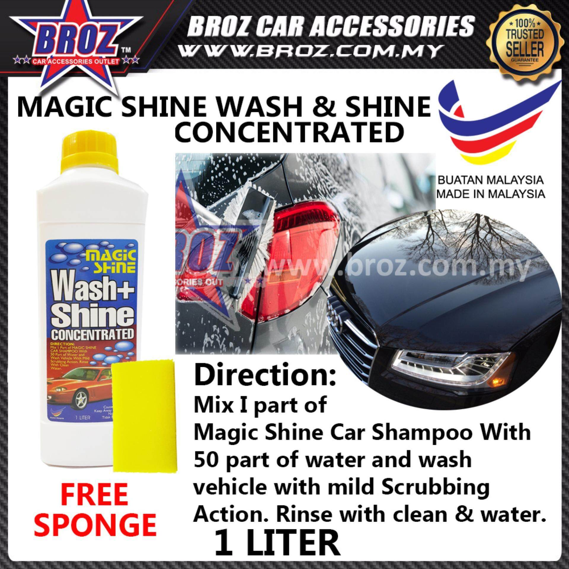 Shine 99 Magic Shine Car Shampoo Cleaner 1 Litre + Sponge