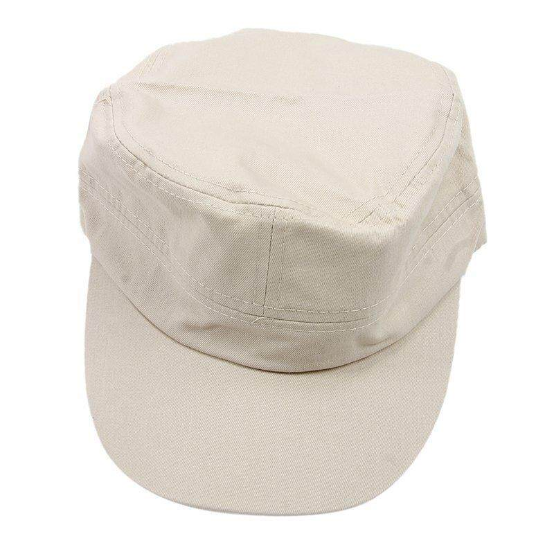 Stylish Plain Military Army Cap Castro Cadet Patrol Cap Hat Adjustable(Beige)