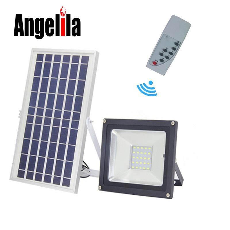 Angelila Solar Panel Daya 10 W LED Lampu Banjir dengan Pengendali Jarak Jauh Darurat Lampu Dinding