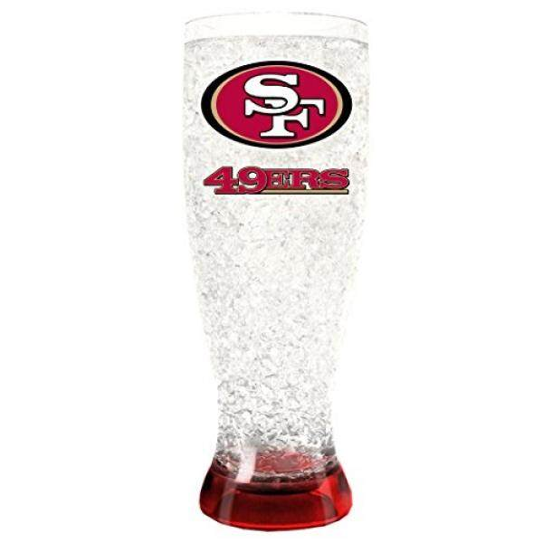 Beer Glasses Duck House NFL San Francisco 49Ers 16oz Crystal Freezer PilsnerTupperware - intl